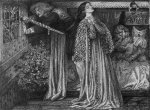 Dante Gabriel Rossetti (1828-1882)  Sir Launcelot in the Queen's Chamber  Pen and black and brown ink  35.2 x 26.5 cm (13.86