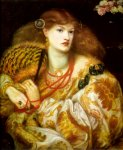 Dante Gabriel Rossetti (1828-1882)  Monna Vanna  Oil on canvas, 1866  86.4 x 88.9 cm (34.02