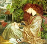 Dante Gabriel Rossetti (1828-1882)  La Pia de' Tolomei  Oil on canvas, 1868-1880  120.6 x 104.8 cm (3' 11.48