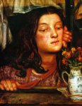 Dante Gabriel Rossetti (1828-1882)  Girl at a Lattice  Oil on canvas, 1862  26 x 29 cm (10.24