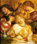 Dante Gabriel Rossetti (1828-1882)  Morning Music  Watercolour, 1864  28 x 30 cm (11.02