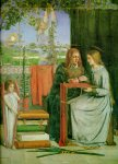 Dante Gabriel Rossetti (1828-1882)  The Childhood of Mary Virgin  Oil on canvas, 1848-1849  65.4 x 83.2 cm (25¾