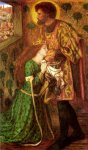 Dante Gabriel Rossetti (1828-1882)  Saint George and the Princess Sabra  Watercolour, 1862  30.8 x 52.4 cm (12.13