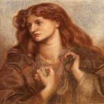 Dante Gabriel Rossetti (1828-1882)  Alexa Wilding  Coloured chalks, 1866  60 x 72 cm (23.62