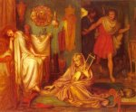 Dante Gabriel Rossetti (1828-1882)  The Return Of Tibullus To Delia  Watercolor on paper, 1868  57 x 47 cm (22.44
