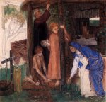 Dante Gabriel Rossetti (1828-1882)  The Passover in the Holy Family: Gathering Bitter Herbs  Watercolor on paper, 1855-1856  43.18 x 40.64 cm (17