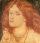 Dante Gabriel Rossetti (1828-1882)  Regina Cordium or The Queen of Hearts  Red and black chalk on paper, 1860  18.5 x 19.5 cm (7.28