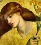 Dante Gabriel Rossetti (1828-1882)  Sancta Lilias  Oil on canvas, 1874  45.7 x 48.3 cm (17.99