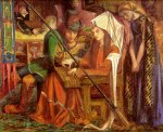 Dante Gabriel Rossetti (1828-1882)  The Tune of the Seven Towers  Watercolour, 1857  36.5 x 31.4 cm (14.37