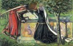 Dante Gabriel Rossetti (1828-1882)  Arthur's Tomb: The Last Meeting of Lancelot and Guinevere  Watercolor on paper, 1854  36.8 x 23.5 cm (14.49