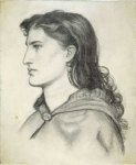 Dante Gabriel Rossetti (1828-1882)  Aggie  Pencil on paper, 1862  21.11 x 25.56 cm (8.31