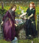 Dante Gabriel Rossetti (1828-1882)  Dante's Vision of Rachel and Leah  Watercolor on paper, 1855  31.5 x 35.5 cm (12.4
