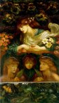 Dante Gabriel Rossetti (1828-1882)  The Blessed Damozel  Oil on canvas, 1875-1878  84 x 174 cm (33.07