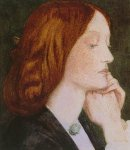 Dante Gabriel Rossetti (1828-1882)  Elizabeth Siddal  Watercolor on paper, 1854-1855  Public collection