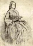 Dante Gabriel Rossetti (1828-1882)  Elizabeth Siddall in a Chair  Pencil on paper  18.4 x 26 cm (7.24