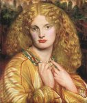 Dante Gabriel Rossetti (1828-1882)  Helen of Troy  Oil on panel, 1863  Hamburger Kunsthalle, Hamburg, Germany
