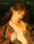 Dante Gabriel Rossetti (1828-1882)  Joli Coeur  Oil on panel, 1867  Public collection