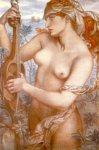 Dante Gabriel Rossetti (1828-1882)  Ligeia Siren  Watercolor on paper, 1873  Public collection