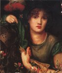 Dante Gabriel Rossetti (1828-1882)  My Lady Greensleeves  Oil on canvas, 1863  Public collection