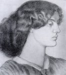 Dante Gabriel Rossetti (1828-1882)  Portrait of Jane Morris  Drawing  Public collection