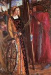 Dante Gabriel Rossetti (1828-1882)  Saint Catherine  Oil on canvas, 1857  24.1 x 34.3 cm (9.49