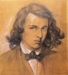 Dante Gabriel Rossetti (1828-1882)  Self Portrait  Pencil on paper, 1847  19.6 x 19 cm (7.72