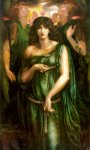 Dante Gabriel Rossetti (1828-1882)  Astarte Syriaca  Oil on canvas, 1875-1877  106.7 x 183 cm (3' 6.01