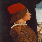 Ercole de' Roberti (c. 1451 – 1496)  Portrait of Giovanni II Bentivoglio  c. 1480  Oil on wood, 54 x 38 cm  National Gallery of Art, Washington, USA