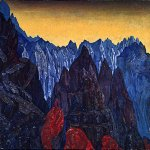 Nikolai Konstantinovich Roerich (1874-1947)  Cry of the Serpent  Tempera on panel, 1914  84 x 98  cm  Pskov History and Art Museum, Russia