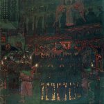 Nikolai Konstantinovich Roerich (1874-1947)  Fiery Furnace  Tempera, gouache, ink, pencil on paper mounted on cardboard, 1905  63 x 49  cm  State Tretyakov Gallery, Moscow, Russia