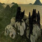 Nikolai Konstantinovich Roerich (1874-1947)  The Ominous Ones  Oil on canvas, 1901   103 x 230 cm  State Russian Museum, St. Petersburg, Russia