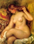 "Pierre Auguste Renoir (1841-1919) Bather with Blonde Hair Oil on canvas 1904-1906 73 x 92 cm (28.74"" x 3\' .22\"") Neue Galerie (Vienna, Austria)"
