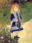 "Pierre Auguste Renoir (1841-1919) A Girl with a Watering Can Oil on canvas 1876 73 x 100 cm (28.74\"" x 3\\\' 3.37\\\"") Chester Dale Collection, National Gallery of Art (Washington DC, United States)"