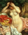 Pierre Auguste Renoir (1841-1919) Bather arranging her Hair Oil on canvas 1893 National Gallery of Art (Washington, DC, United States)