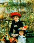 Pierre Auguste Renoir (1841-1919) Two Sisters on the Terrace Oil on canvas 1881 Art Institute of Chicago (Chicago, Illinois, United States)