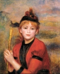 "Pierre Auguste Renoir (1841-1919) The Rambler Oil on canvas c1895 50 x 61.5 cm (19.69"" x 24.21\"") Musee des Beaux-Arts (Le Havre, Normandy, France)"