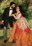 "Pierre Auguste Renoir (1841-1919) Portrait of Alfred and Marie Sisley Oil on canvas 1868 75 x 105 cm (29.53"" x 3\' 5.34\"") Wallraf-Richartz Museum (Cologne, Westfalen, Germany)"