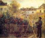 "Pierre Auguste Renoir (1841-1919) Claude Monet Painting in his Garden at Argenteuil Oil on canvas 1875 61 x 50 cm (24.02"" x 19.69\"") Wadsworth Atheneum (Hartford, Connecticut, United States)"