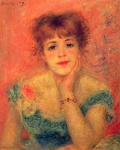 "Pierre Auguste Renoir (1841-1919) Jeanne Samary in a Low�Necked Dress Oil on canvas 1877 46 x 56 cm (18.11"" x 22.05\"") Pushkin Museum (Moscow, Russian Federation)"