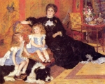 "Pierre Auguste Renoir (1841-1919) Madame Georges Charpentier and her Children, Georgette and Paul Oil on canvas 1878 189 x 153 cm (6\' 2.41"" x 5\' .24\"") Metropolitan Museum of Art (Manhattan, New York, United States)"