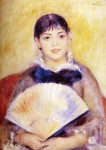 Pierre Auguste Renoir (1841-1919) Girl with a Fan Oil on canvas 1880 Private collection