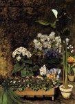 "Pierre Auguste Renoir (1841-1919) Spring Flowers Oil on canvas 1864 98.4 x 130 cm (3\' 2.74"" x 4\' 3.18\"") Private collection"