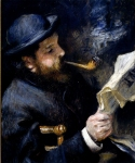 Pierre Auguste Renoir (1841-1919) Claude Monet Reading A Newspaper Oil on canvas 1872 Private collection
