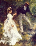 "Pierre Auguste Renoir (1841-1919) La Promenade Oil on canvas 1870 65 x 81 cm (25.59"" x 31.89\"") J. Paul Getty Museum (Los Angeles, California, United States)"