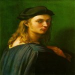 Raphael Sanzio (Italian: Raffaello) (1483 - 1520)  Portrait of Bindo Altoviti  Oil on wood, 1512-1515  60 cm × 44 cm (24 in × 17 in)  National Gallery of Art, Washington, D.C., USA