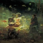 Ilya Yefimovich Repin (1844 - 1930)  Sadko in the Underwater Kingdom  Oil on canvas, 1876  323х230 cm  State Russian Museum, St. Petersburg Russia