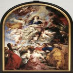 Peter Paul Rubens (1577 � 1640)  Assumption of the Virgin Mary  Oil on panel, 1626  490 cm × 325 cm (190 in × 130 in)  Cathedral of Our Lady, Antwerp, Belgium