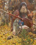 Ryzhenko Pavel Viktorovich  Prayer before the battle. (Prayer Peresvet) 2005  Oil on canvas   110x75 cm  Private collection