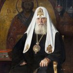 Ryzhenko Pavel Viktorovich  Portrait of Patriarch Alexy II  Oil on canvas   Private collection
