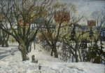Ryzhenko Pavel Viktorovich  Novodevichy Convent  Oil on canvas   Private collection